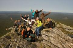 Участники экскурсии по экологической тропе к вершине Сев. Басега