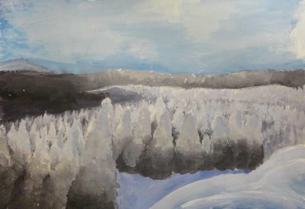 Кулябина Елизавета, 11 лет, п. Теплая Гора,  Зимняя сказка- горы Колпаки